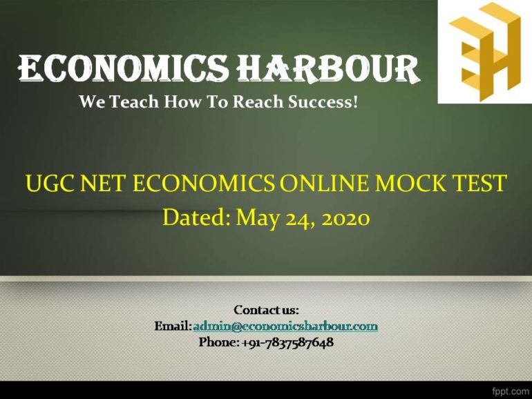 UGC NET Economics Mock Test by Economics Harbour