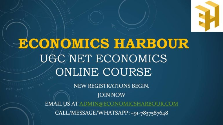 UGC NET Economics Online Course: December 2020 Batch